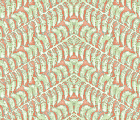 Tangerine Fern fabric by wiccked on Spoonflower - custom fabric