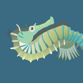 Seahorse - linen FQ