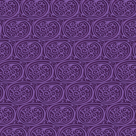 curlyswirl (lavender) fabric by bippidiiboppidii on Spoonflower - custom fabric