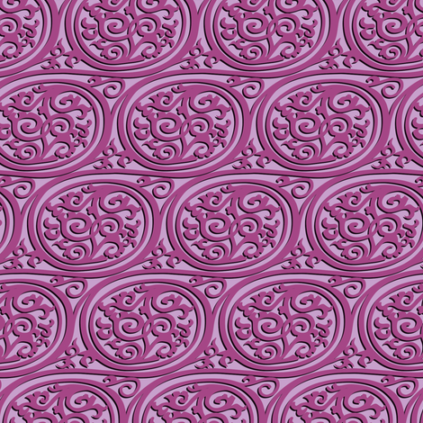 curlyswirl (pink) fabric by bippidiiboppidii on Spoonflower - custom fabric