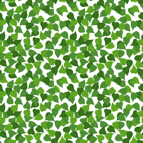 Teenie Tiny Leaf fabric by loopy_canadian on Spoonflower - custom fabric
