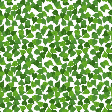 Teenie Tiny Leaf fabric by loopy_canadian on Spoonflower - custom fabric