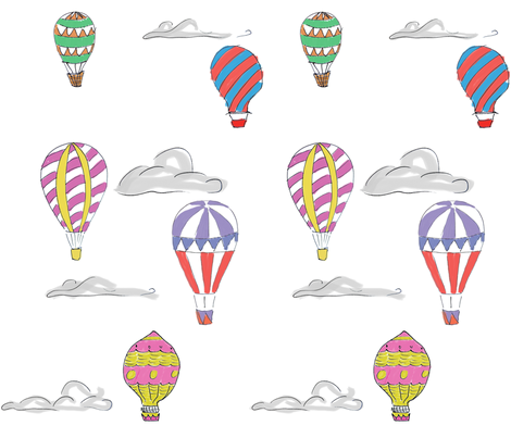 air ballon travel fabric by joaosilva on Spoonflower - custom fabric