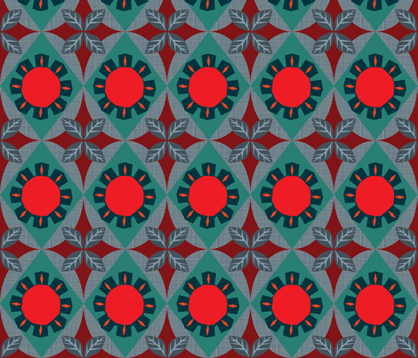 funny fifties flower (1) fabric by bippidiiboppidii on Spoonflower - custom fabric