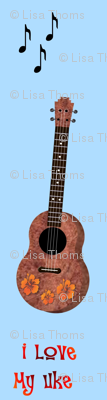 Uke Lover Blue Background