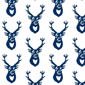 Navy Blue Deer