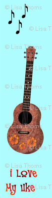 Uke Love Turquoise Background
