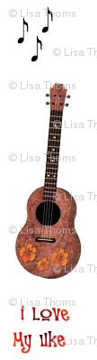 Uke Lover White Background