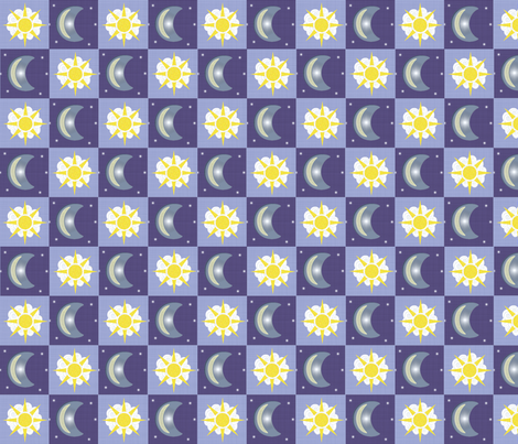 Moon & Sun fabric by arttreedesigns on Spoonflower - custom fabric
