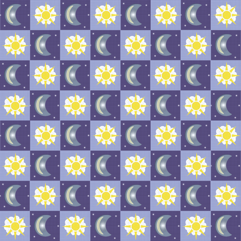 Moon & Sun fabric by taramcgowan on Spoonflower - custom fabric