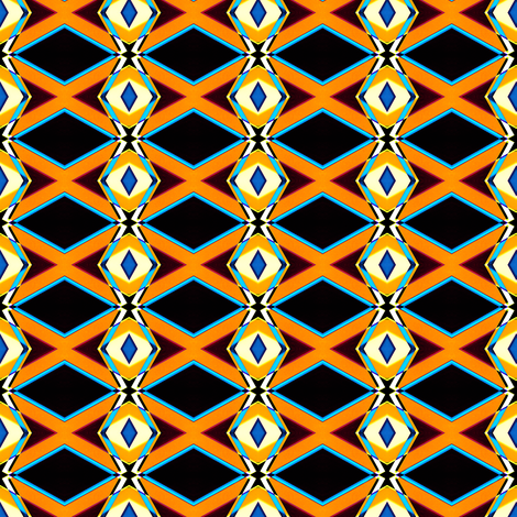 Orange Diamonds fabric by galleryhakon on Spoonflower - custom fabric