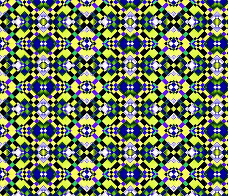 Green and Blue Squares fabric by galleryhakon on Spoonflower - custom fabric