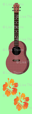 Hibiscus Uke Floral Green Background