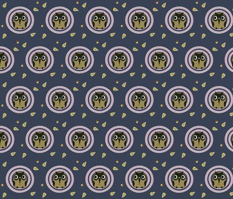 night owl fabric by isabella_asratyan on Spoonflower - custom fabric