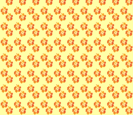 Coordinating Hibiscus Yellow Background fabric by landofukeandhoney on Spoonflower - custom fabric