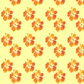 Coordinating Hibiscus Yellow Background
