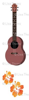 Hibiscus Uke Floral White Background