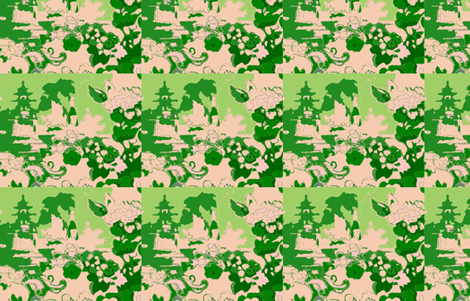 gardenfolly-emerald fabric by kerrysteele on Spoonflower - custom fabric
