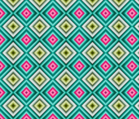 Turquoise and Pink Paper fabric by galleryhakon on Spoonflower - custom fabric