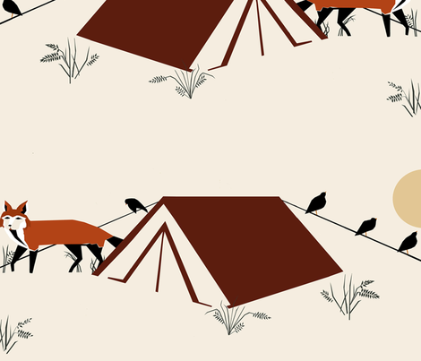 yosemite fabric by mirjamauno on Spoonflower - custom fabric