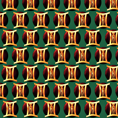 ©2011 gemini-ed fabric by glimmericks on Spoonflower - custom fabric