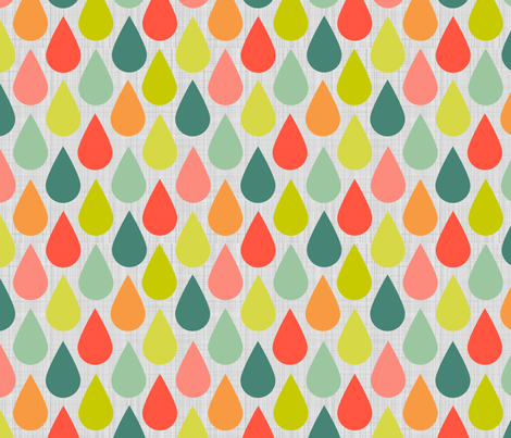 Happy Rain Drops  fabric by natitys on Spoonflower - custom fabric