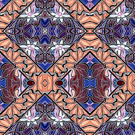 Contemplating Stained Glass fabric by edsel2084 on Spoonflower - custom fabric