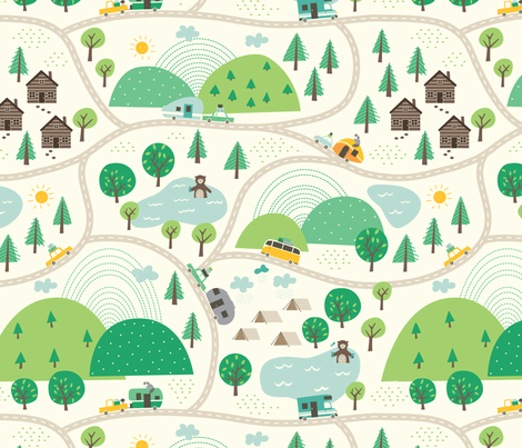 Lets_go_Camping fabric by stacyiesthsu on Spoonflower - custom fabric