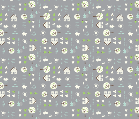 The_Cabin fabric by stacyiesthsu on Spoonflower - custom fabric