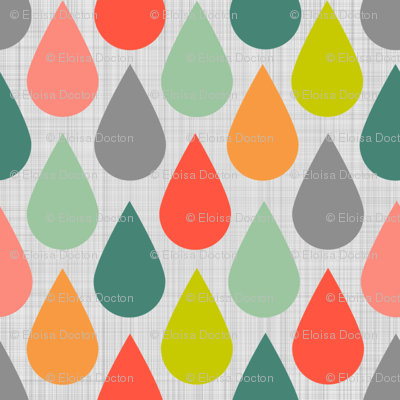 Happy Rain Pastels and Grey