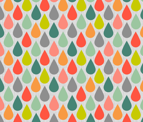 Happy Rain Pastels and Grey fabric by natitys on Spoonflower - custom fabric