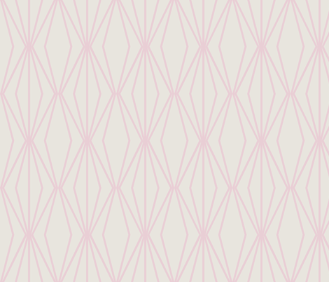 DIAMONDS Dusty Rose fabric by horn&ivory on Spoonflower - custom fabric