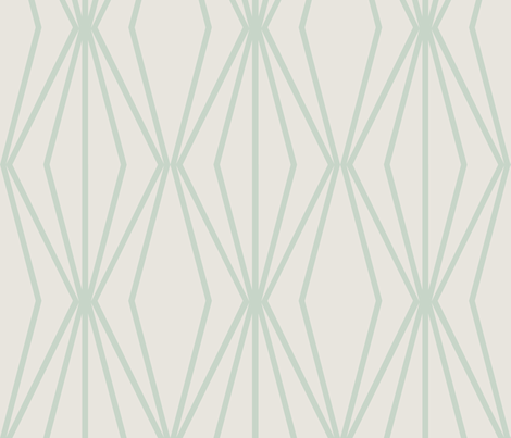 DIAMONDS Dusty Mint fabric by horn&ivory on Spoonflower - custom fabric