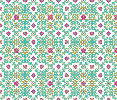 daisy tile fabric by cindilu on Spoonflower - custom fabric