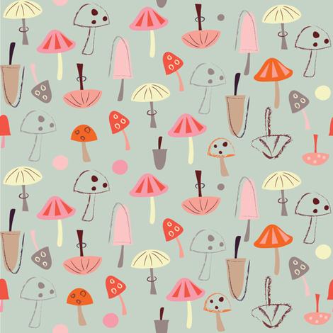Mushroom Print fabric by redfish on Spoonflower - custom fabric