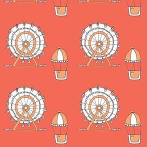 coral ferris wheel