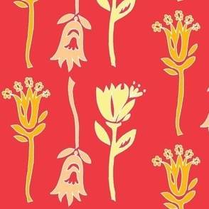 tulips painted coral