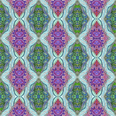 Argyle Paisley Flower Diamond Jubilee fabric by edsel2084 on Spoonflower - custom fabric