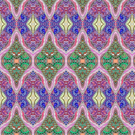 Shine On You Crazy Diamond (zig zag cheater quilt) fabric by edsel2084 on Spoonflower - custom fabric