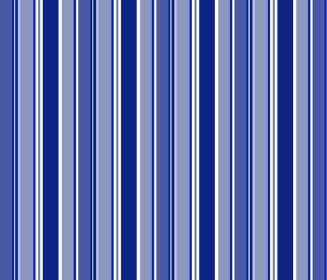 Underwater Love (Royal Blue stripe) fabric by delsie on Spoonflower - custom fabric