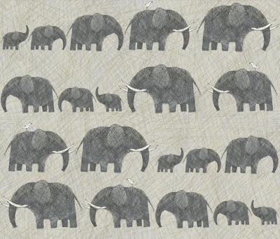 AMBOSELI  KENYA ELEPHANT PARADE