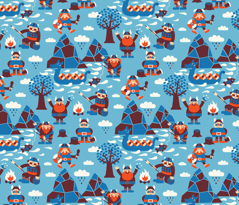 Vikings fabric by bora on Spoonflower - custom fabric