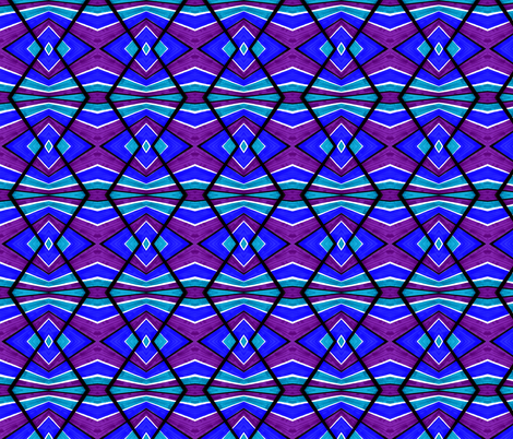 Blue Turquoise and Purple fabric by galleryhakon on Spoonflower - custom fabric
