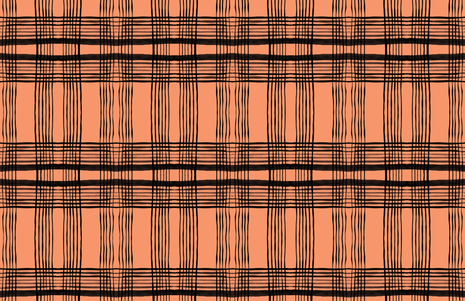 cestlaviv_kitchenplaid pumbkin fabric by cest_la_viv on Spoonflower - custom fabric