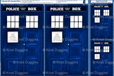 Doctor Who Inspired TARDIS Police Box Pillow Project