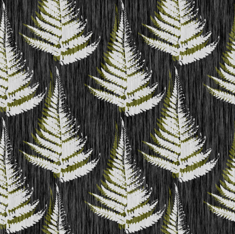 Small Ferns - eco green fabric by thecalvarium on Spoonflower - custom fabric