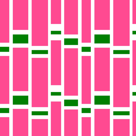 Preppy Stripes (Pink/Green) fabric by stitching_dvm on Spoonflower - custom fabric
