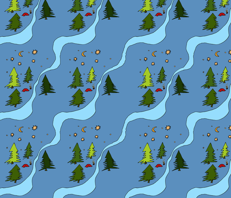 littletentintheforest fabric by blumenlimonade on Spoonflower - custom fabric