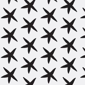 Starfish White and Black