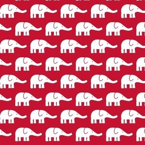 SMALL Elephants in real red